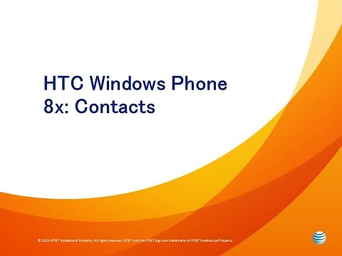 HTC Windows Phone 8x: Contacts