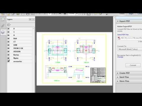 Create AutoCAD File to PDF with Layer