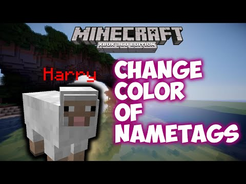 Minecraft Xbox/Playstation - How to change the color of NAMETAGS!!