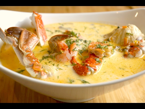 seafood cream soup recipe  ...طريقة عمل شوربة السيفود بالكريمة
