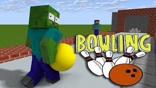 Monster School : BOWLING CHALLENGE - Minecraft Animation
