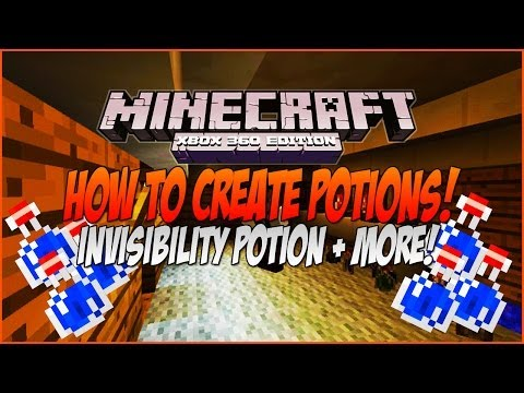 Minecraft How to Create Potions! Invisibility Potion, Night Vision Potion! Xbox 360 Edition TU14