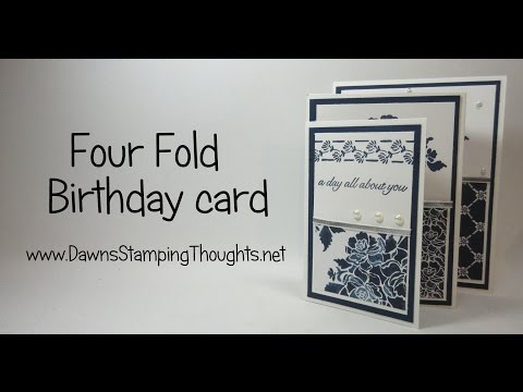 Four Fold Birthday card featuring products from  Stampin'Up!