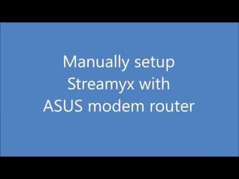 ASUS modem router ~ Streamyx Manual Setup