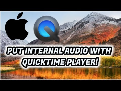 Record Internal Sound with Quicktime Player ( mac )