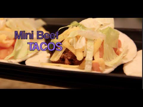 Mini Beef Tacos recipe vlog