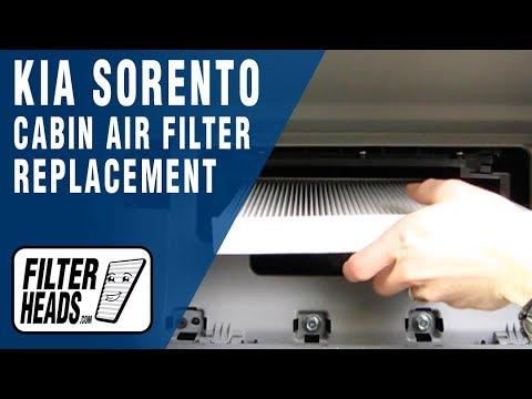 How to Replace Cabin Air Filter Kia Sorento