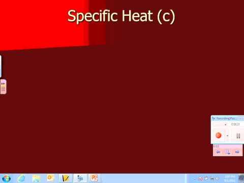 2 Heat capacity, specific heat, and calorimetry