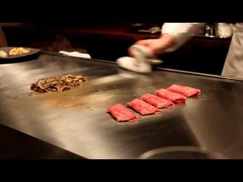 Waku Ghin - Chef Inoue Cooking Kobe Beef
