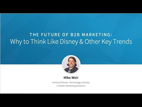 Sales & Marketing: The New Power Couple - 7 B2B Marketing Trends - Mike Weir