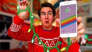 Christmas Lights Charge Your iPhone?
