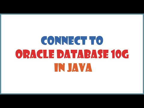 How to connect to oracle database in java (using Eclipse)