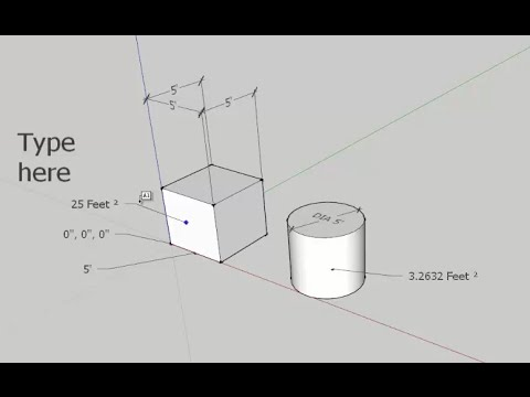 SketchUp: Text and Dimensions