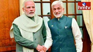 Interesting Incident B/W Modi and Vijay Sai Reddy after All Party Meet | Telugu News | hmtv |