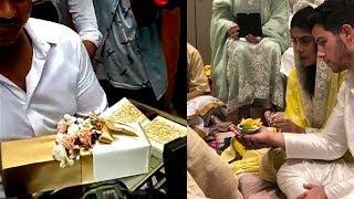 Priyanka Chopra Nick Jonas Engagement | Guests Arrive With Gifts | Visuals From Priyanka