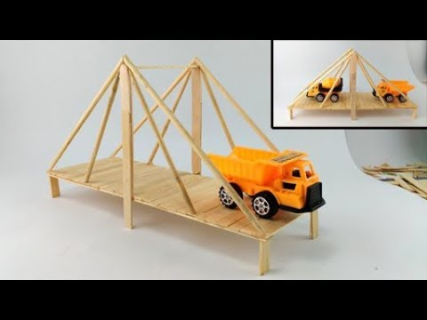 How to Make  Bridge  Using Popsicle Sticks / Suspension Bridge
