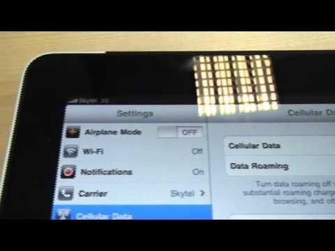 3G SIM in iPad