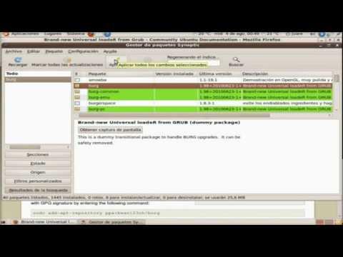 Instalar BURG en Ubuntu