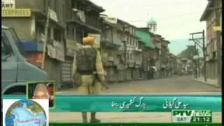 Kashmir unrest PTV-NEWS 9PM 18 sept 2010