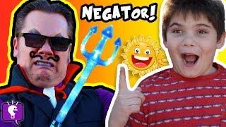 Cranky NEGATOR Ruins Our Day! Comedy Sketch HobbyKidsTV