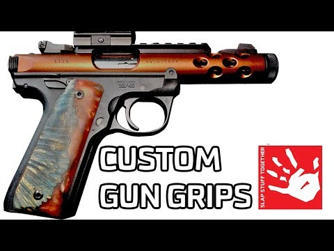 Stabilized Burl Custom Ruger Mark IV Single Action 22 Gun Grips