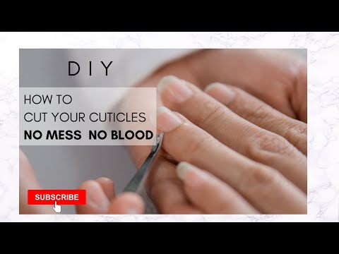 DIY!!!! HOW TO CUT YOUR CUTICLES THE EASY WAY!!!