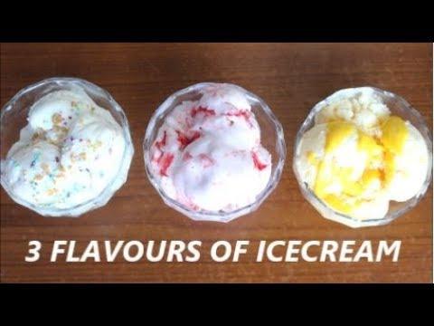 मार्किट जैसी आइसक्रीम बनाये घर पर /Ice Cream n 3 flavours by Raks HomeKitchen