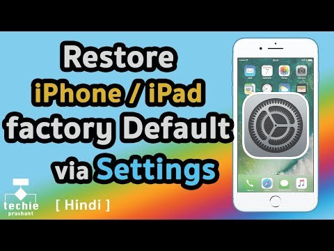 How to Restore iPhone/iPad to Factory Default via Settings App. HINDI