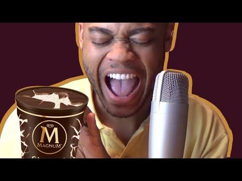 ASMR : MAGNUM Ice Cream Tub!!!