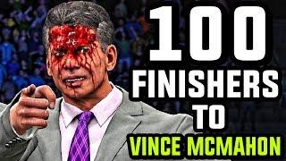 WWE 2K17 - 100 Finishers To Vince McMahon!