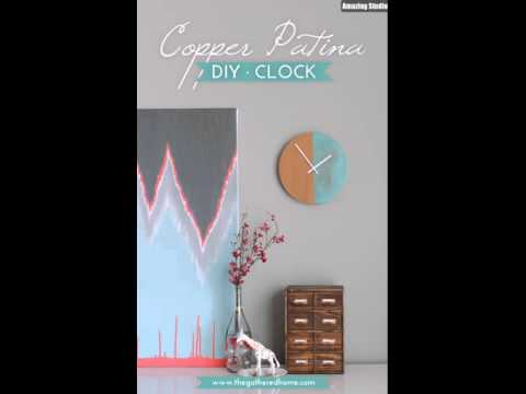 Anthopologie Knock Off DIY Copper Patina Clock