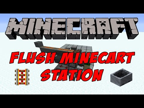 Minecraft Tutorial - Flush Automatic Minecart Station