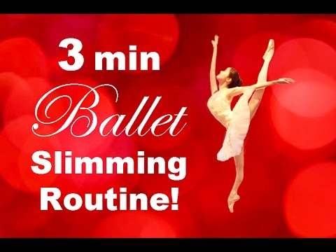 How To: Get a SLIM & FIT Body in 3 MINUTES! Ballet Fitness バレエダイエット