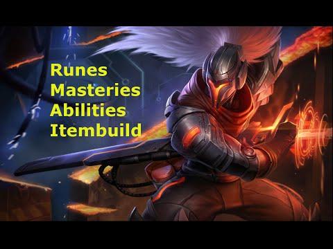 Yasuo Champion Guide [Masteries, Runes, Abilities, Itembuild]