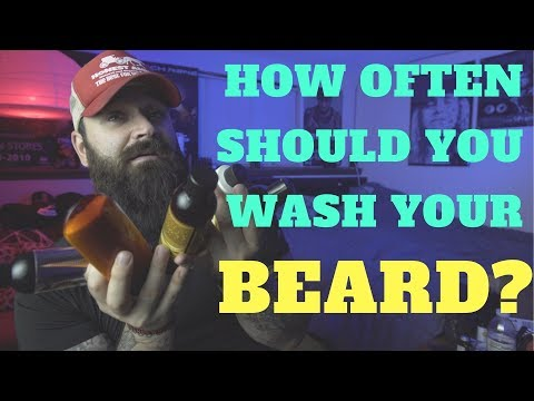 How often should you wash your beard???