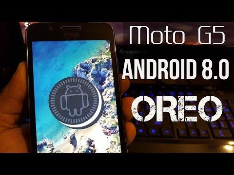 Moto G5  Android 8.1.0 Oreo