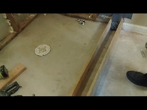 How To Build A Shower Curb  - Part 1 - Prep and Build the Curb Frame.