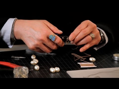 How to Make a Pearl Necklace w/ French Wire | Making Jewelry