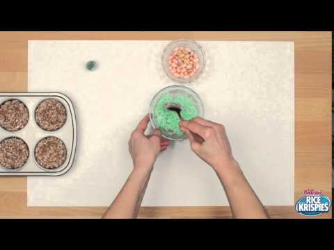 How to Make a Bird's Nest Rice Krispies Treat