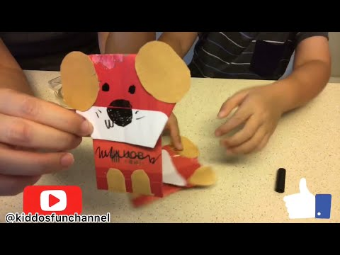 How to make ang bao / Hong bao / red packet dog with kids