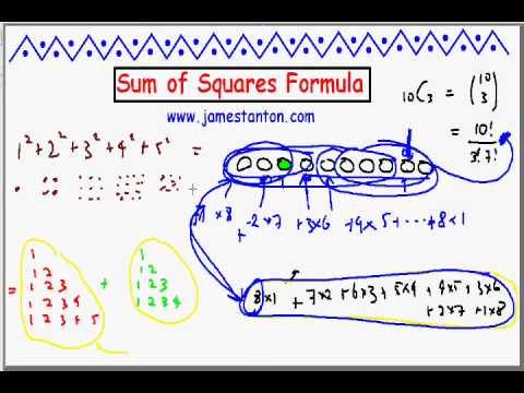 Sums of Squares Formula (Tanton Mathematics)