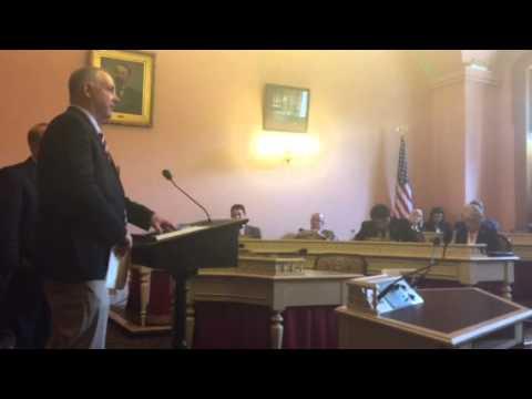 Ohio Legislators Andrew Brenner & Steven Huffman  speaking on house bill 497 to treat this heroin e