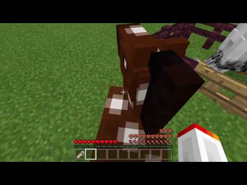 Minecraft how to make a horse go/ride upside down [easy]