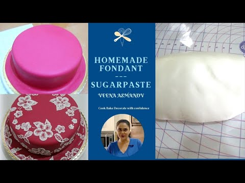 Homemade Fondant Recipe | Easy Sugar Paste by Veena Azmanov