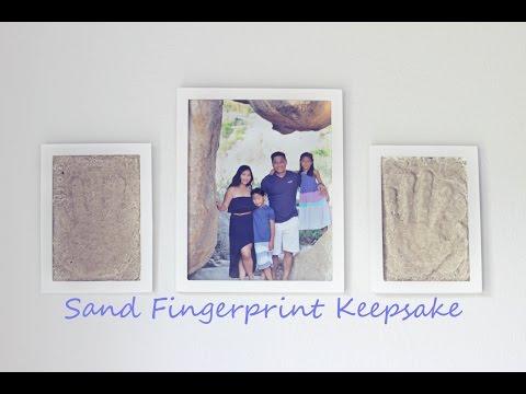 #WeCanCraft   Sand Print Keepsake