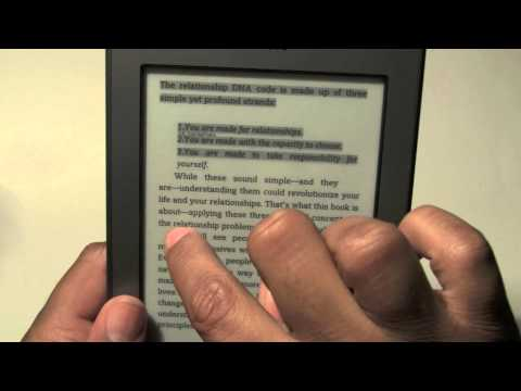 Kindle Touch: How to Take Notes   H2TechVideos