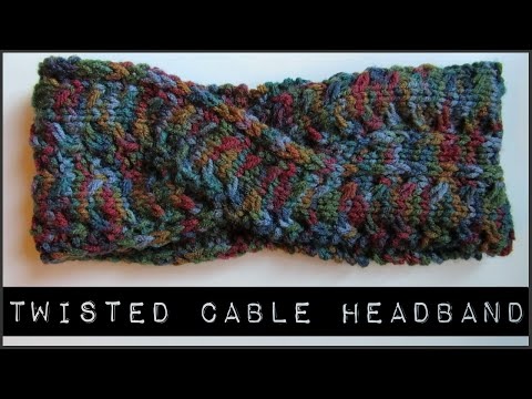 How to Knit a Twisted Cable Headband