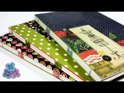 How to make Easy Handmade Bookbinding Tutorial 120 sheet Book Papercraft Gift Ideas Mathie