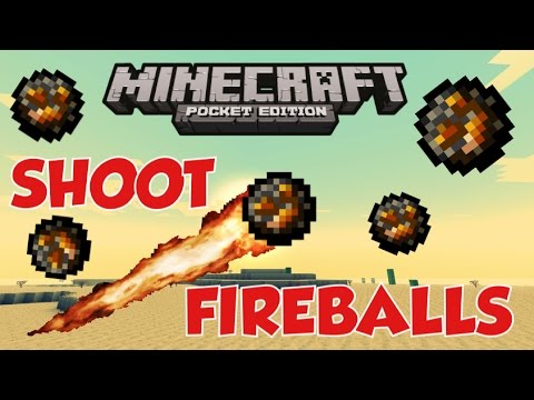 HOW TO SHOOT FIREBALLS IN MCPE - 1.0.4 Trick - Minecraft PE (Pocket Edition)