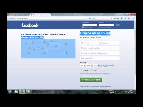 How to Create a Facebook Account 2014